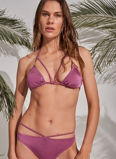 Morhipo Beach Aksesuar Detaylı Bikini Mürdüm